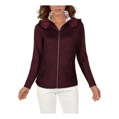 Natural Reflections® Women's Long-Sleeve Sweater Fleece Hoodie - Fig