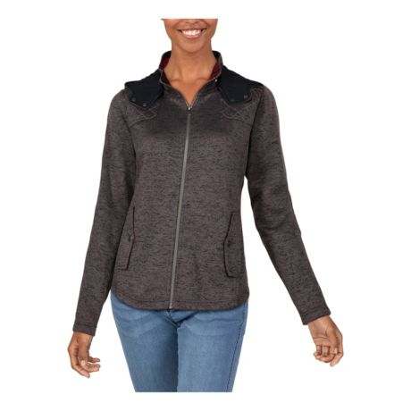 Natural Reflections® Women's Long-Sleeve Sweater Fleece Hoodie - Anthracite