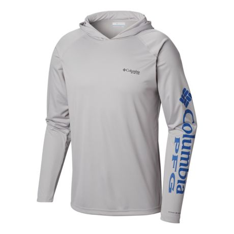 Columbia™ Men's PFG Terminal Tackle™ Hoodie - Grey/Blue