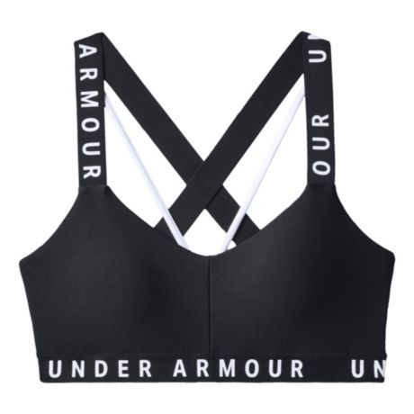 Under Armour® Women's Wordmark Strappy Sports Bra - Black/White