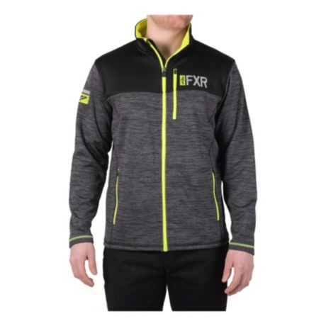 FXR® Men's Elevation Tech Zip-Up Jacket - Black/Hi-Vis