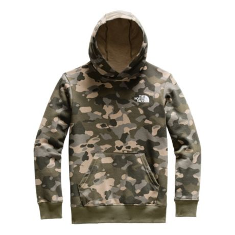 The North Face® Youth Logowear Pullover Hoodie - Burnt Olive Green Print