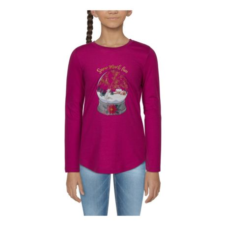 Bass Pro Shops® Toddlers' Snow Much Fun Snow Globe Long-Sleeve T-Shirt