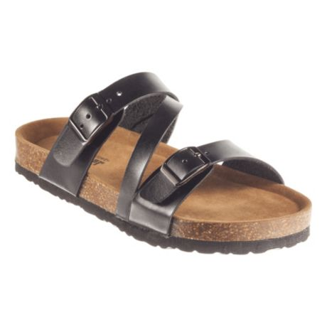 Natural Reflections® Women's Melanie Buckle Sandals - Black