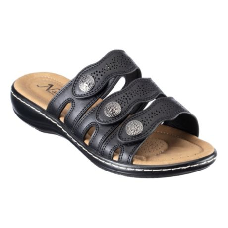 Natural Reflections® Women's Cami II Wedge Sandals - Black