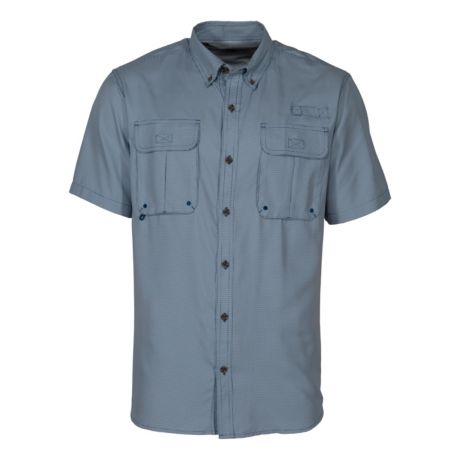 RedHead® Men's Solid Tourney Short-Sleeve Shirt - Blue Opal Gingham