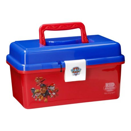 Kid Casters PAW Patrol Tackle Box for Kids - Red/Blue