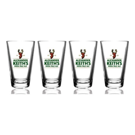 Alexander Keiths 4 Pack Pint Glass Set