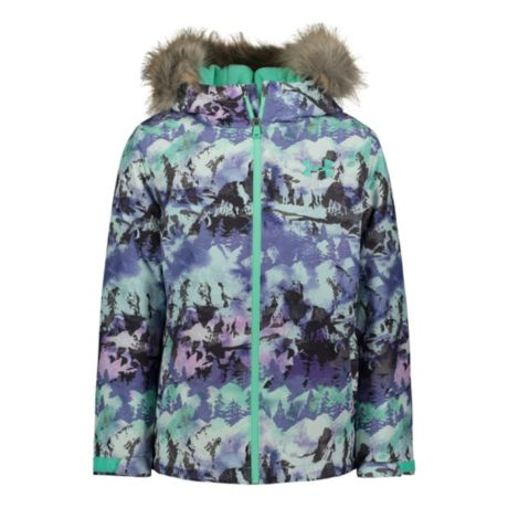 Under Armour® Girls' Print Laila Jacket - Comet Green