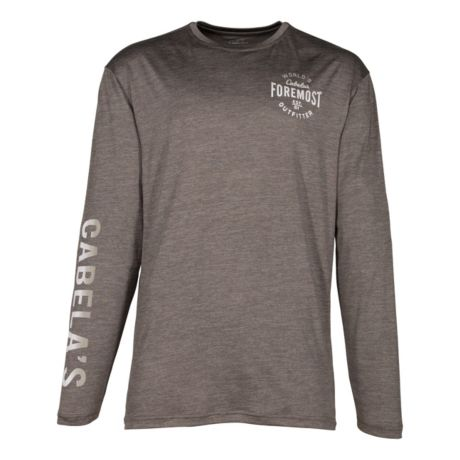 Cabela's Men's Space Dye Performance Long-Sleeve T-Shirt - Charcoal
