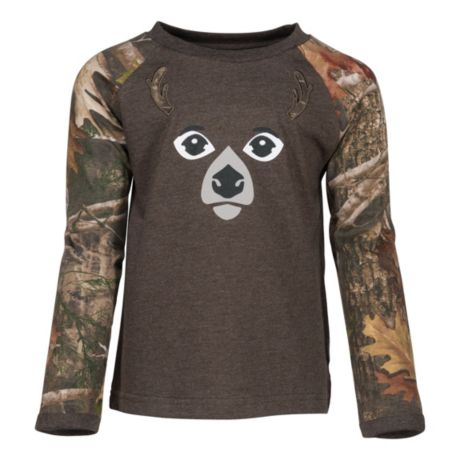 Bass Pro Shops® Infants'/Toddlers Deer Face Long-Sleeve Raglan T-Shirt