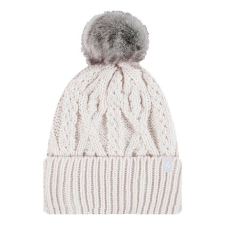 Heat Holders® Women's Solna Cable Knit Roll Up Pom Pom Hat