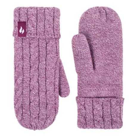 Heat Holders® Women's Cable Knit Mittens - Rose