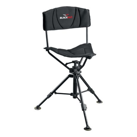 BlackOut® Swivel Tripod Chair