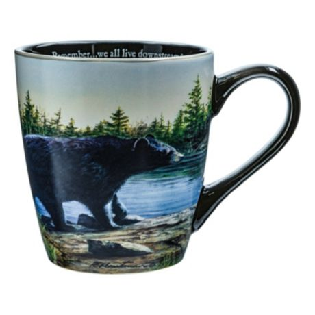 Canterbury Potteries Bear Panoramic We All Live Downstream Mug