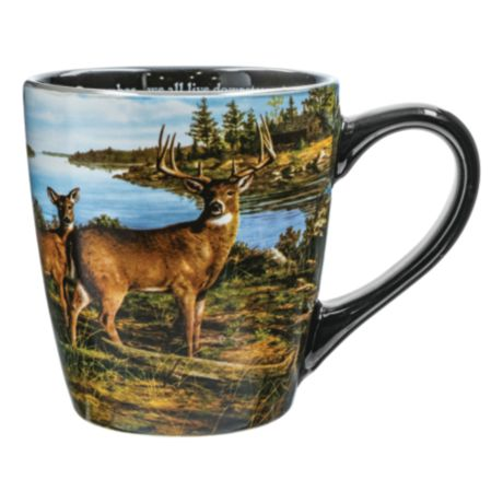 Canterbury Potteries Whitetail Panoramic We All Live Downstream Mug