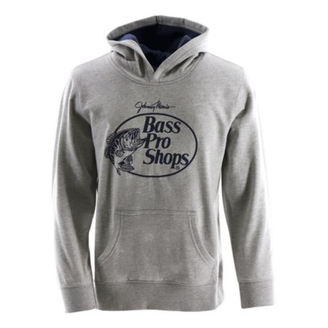 Bass Pro Shops® Youth Promo Logo Hoodie - Heather Grey