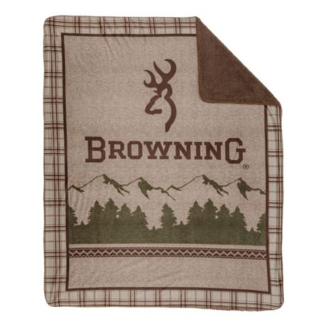 White River® Browning® Mountain Plaid Micro Mink Throw