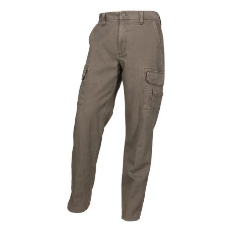RedHead® Men's Fulton Flex Fit Flannel-Lined Cargo Pants - Brown