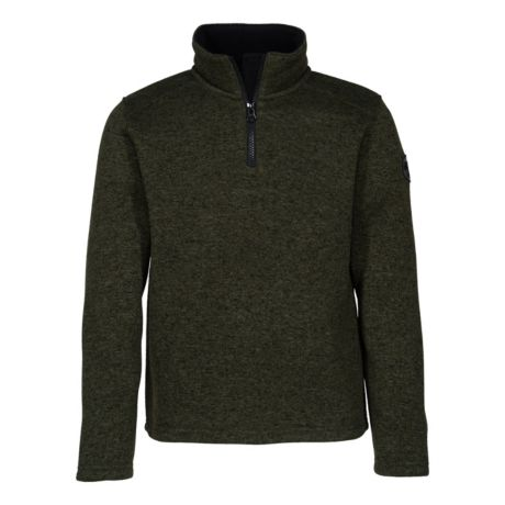 Bass Pro Shops® Boys' Quarter-Zip Pullover Sweater - Forest Night