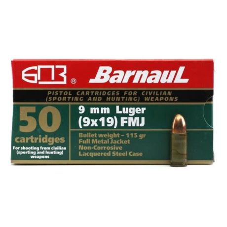 Barnaul® 9mm Zinc Case Pistol Ammunition