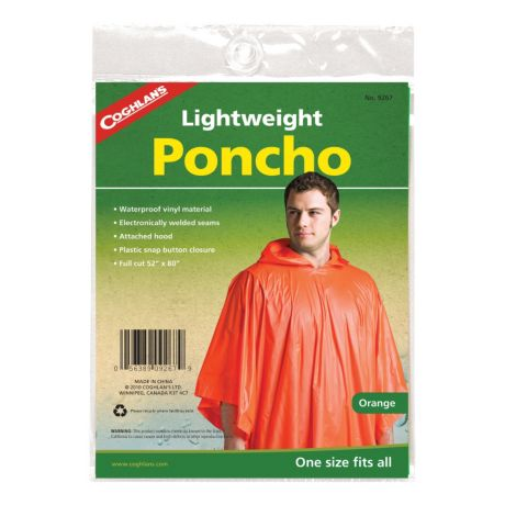 Coghlan's Poncho - Orange