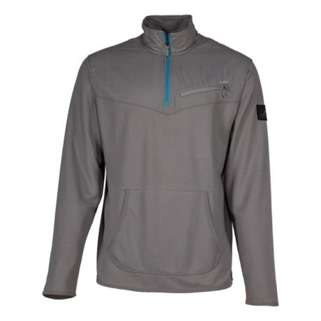 Ascend® Men's Chunky Waffle Quarter-Zip Jacket - Frost Grey