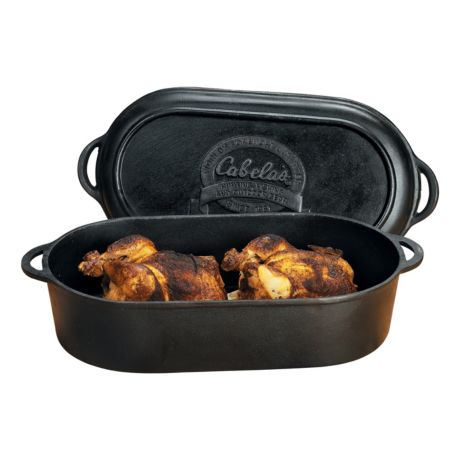 Cabela S Outfitter Series Cast Iron Oval Roaster Griddle