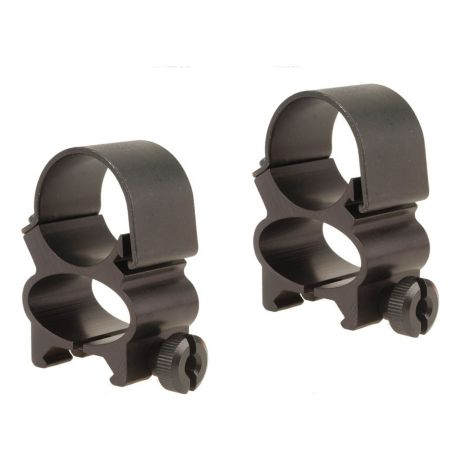 Weaver See-Thru Rings - Matte Black