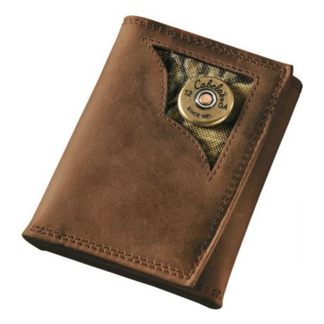 Cabela's Oil-Tanned Leather Shotshell Trifold Wallet