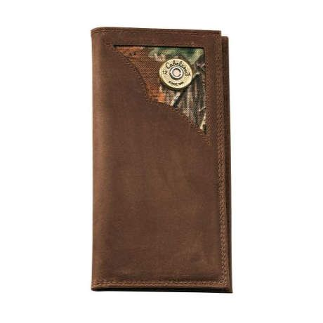 Cabela's Oil-Tanned Leather Shotshell Chequebook Wallet