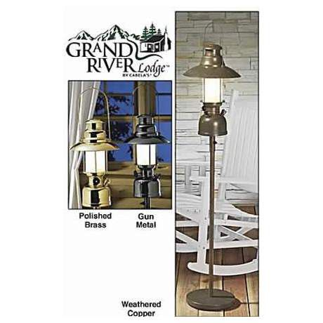 Grand River Lodge Indoor/Outdoor Electric Lantern Floor Lamps
