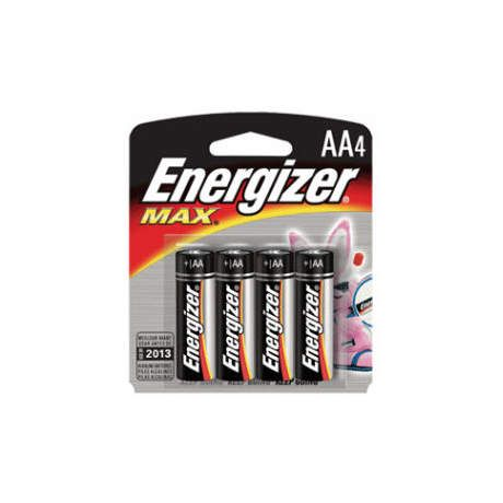 Energizer MAX Alkaline Batteries - AA 4 Pack