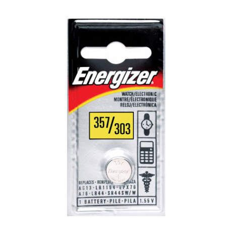 Energizer 357/303 1.5V Silver Oxide Watch Battery