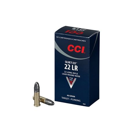 CCI® .22 Long Rifle Quiet-22 Ammunition