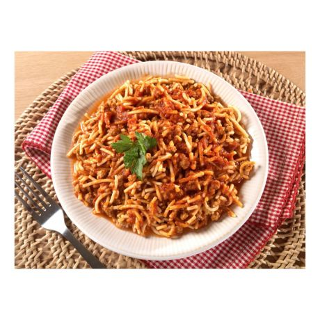 Mountain House Adventure Meals - Spaghetti with Meat Sauce - prepared