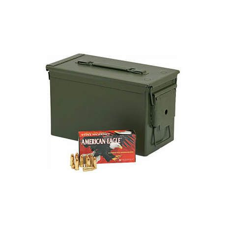 Federal American Eagle 9mm Luger Ammunition w/ Ammo Can