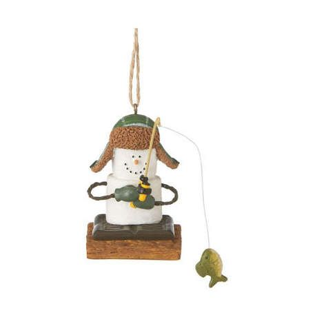 S'more Ice Fisherman Ornament