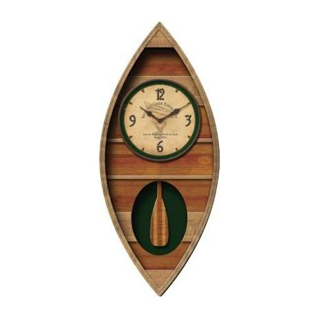 FirsTime Canoe Pendulum Wall Clock