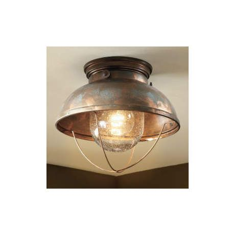Cabelas grand river lodge fishermans ceiling light weathered copper