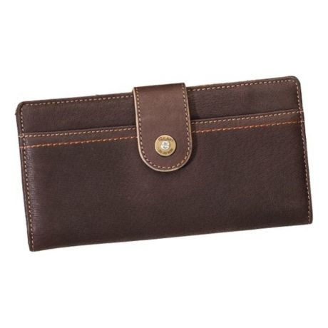 Classic Leather Bi-Fold Clutch – Brown