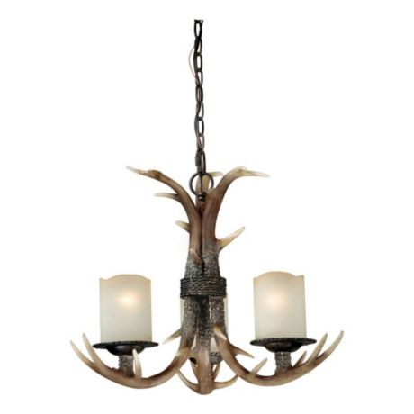 Vaxcel Yoho 3-Light Black Walnut Chandelier