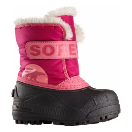 Sorel Toddler's Snow Commander Boots - Tropical Pink/Deep Blush