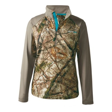Cabela's OutfitHer Lifestyle 1/4-Zip Shirt - Woodlands