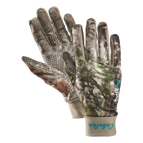 Cabela's OutfitHER Camoskinz Unlined Gloves - Cabela's Zonz Woodlands
