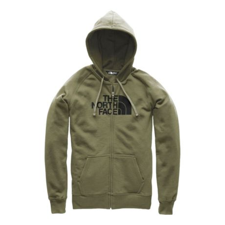The North Face® Women's Half Dome Full Zip Hoodie - Clover/TNF Black