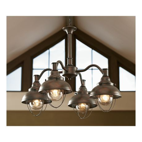 Grand river lodge fishermans four light chandelier cabelas canada weathered copper aloadofball Image collections