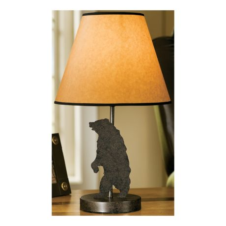 Cabelas lodge table lamp cabelas canada bear mozeypictures Image collections