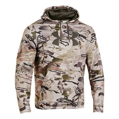 sports shoes 31fd2 1d5d0 Under Armour Camo Big Logo Hoodie - Ridge Reaper Camo Barren Series. Use +  and - keys to zoom in and out, arrow keys move the zoomed portion of the  image