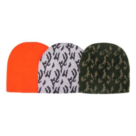 Hot Shot Three Pack of Acrylic Knit Beanies